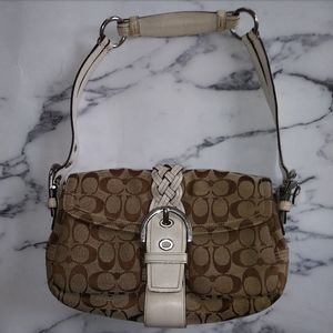 Authentic Coach Brown Monogram Shoulder Bag